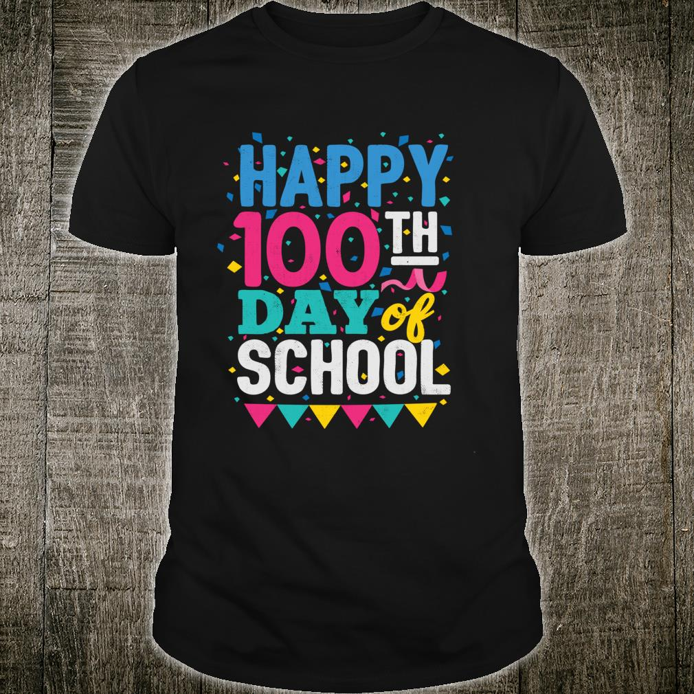 100 Days Of School 100th day Teachers Party Shirt.