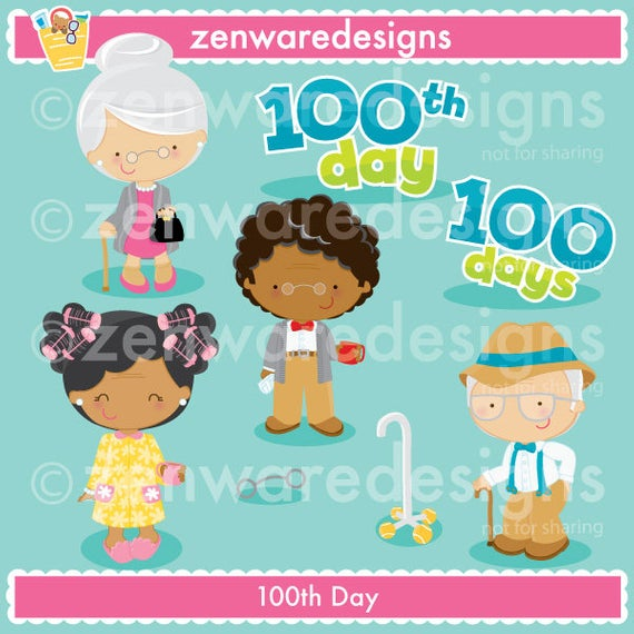 100th Day of School Clipart.