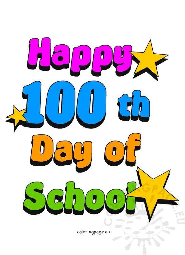 100th Day of School Clip Art.