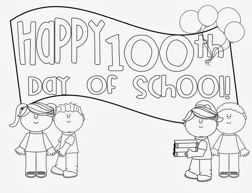 100th Day Of School Kindergarten Coloring Pages.