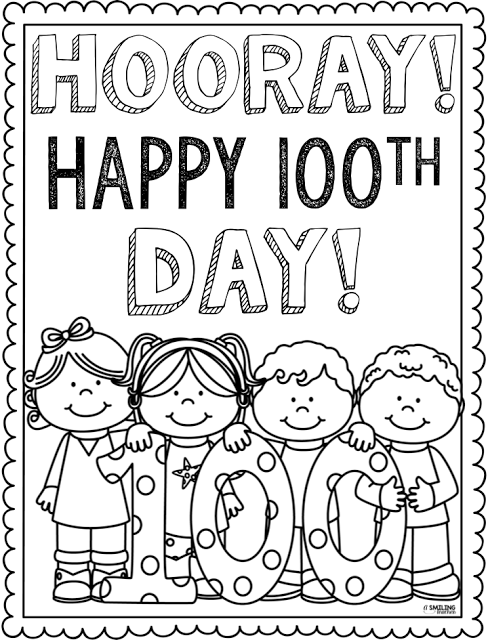 100th Day Of School Clipart Free Black And White.