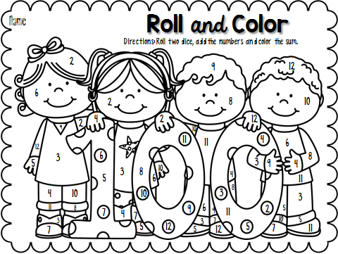 100th Day Of School Clip Free Clip Art Black And.