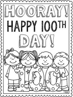 100th Day Coloring Page.
