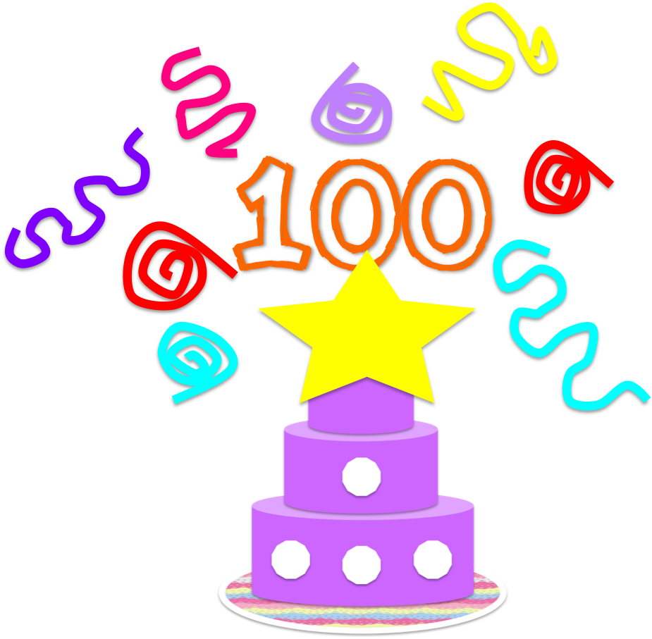 Library of 100th day of school banner library png files.
