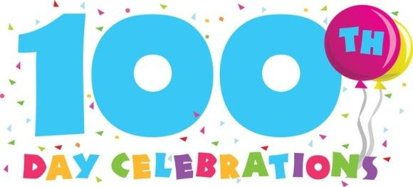 100th Day Printable Clipart.