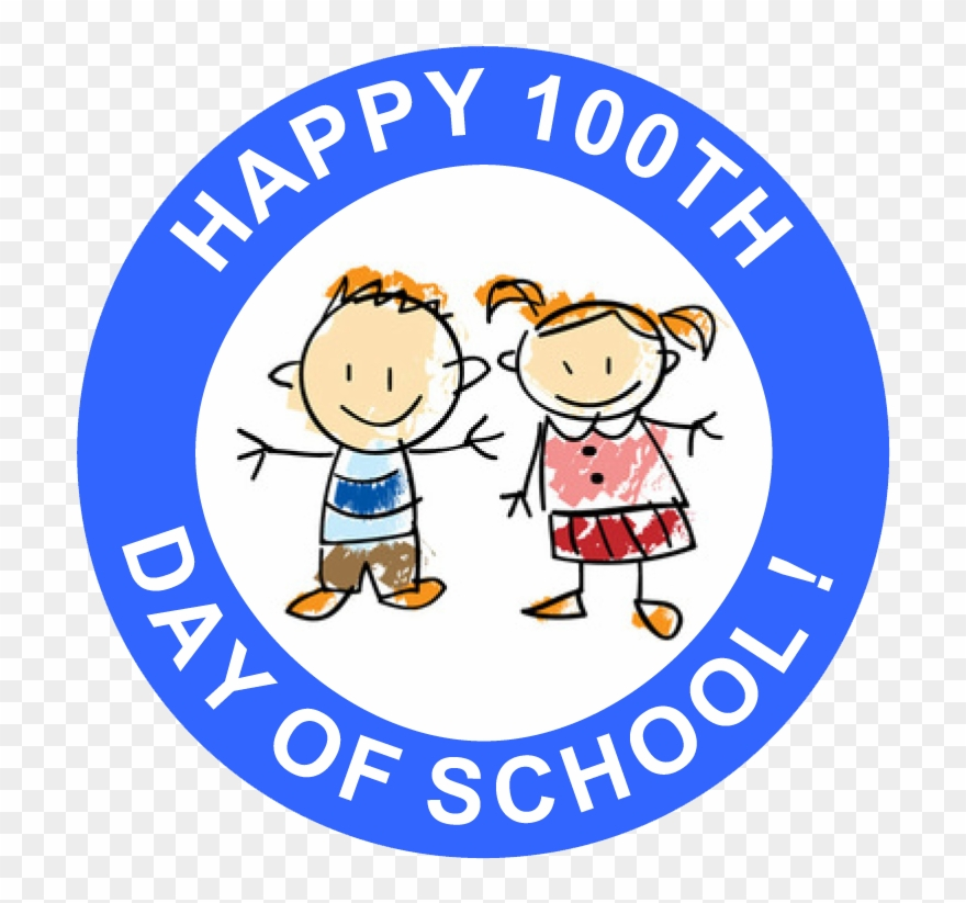 Happy 100th Day Of School Free Printable Stickers.
