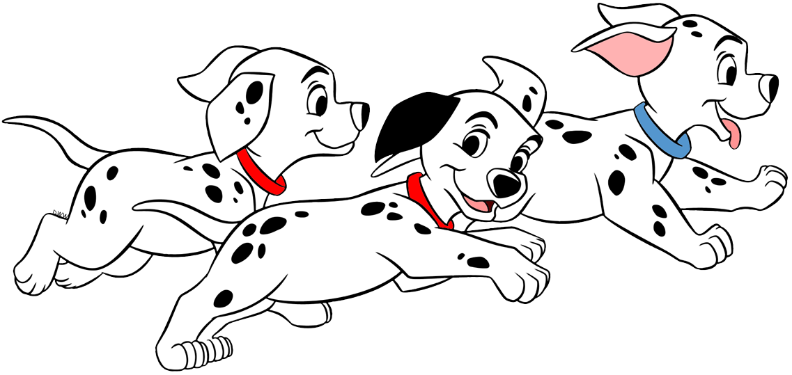 101 Dalmatians Puppies Clip Art.