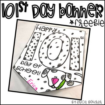 101st Day of School Banner Freebie.