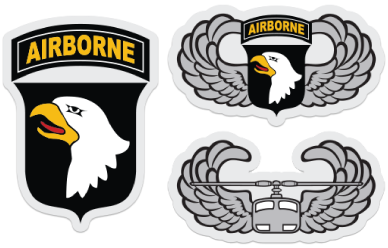 101st Airborne Sticker Set.