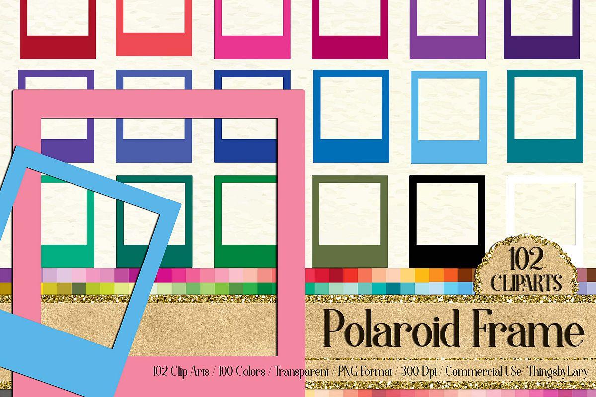 102 Solid Color Polaroid Frames Clip Art Digital Photo Frame.