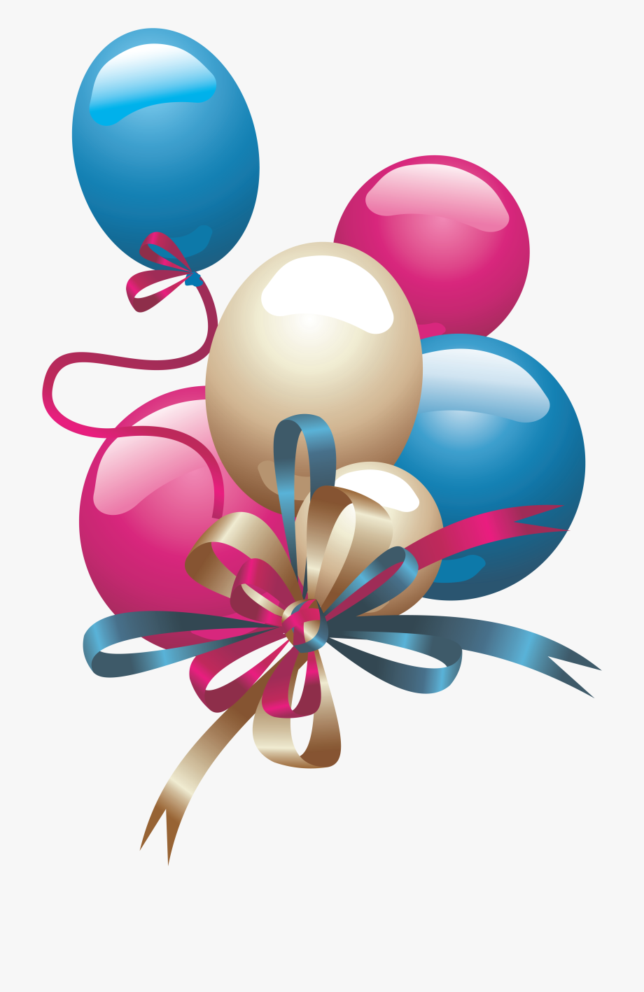 Happy Birthday Balloons Png Image File Clip Art.