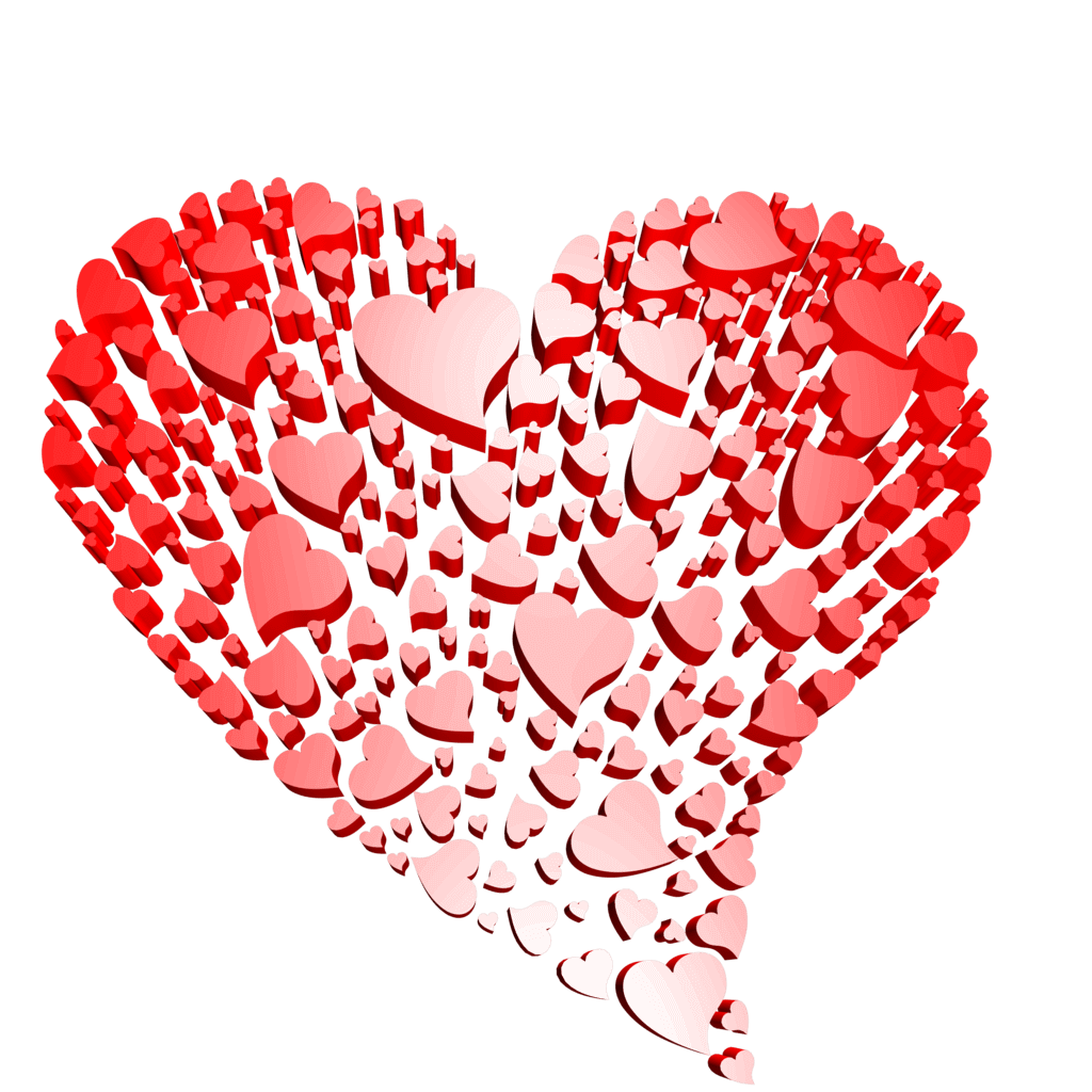 3d Transparent Heart Of Hearts Free Clipart.