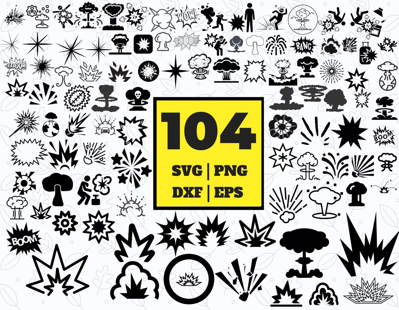 104 EXPLOSION SVG BUNDLE.