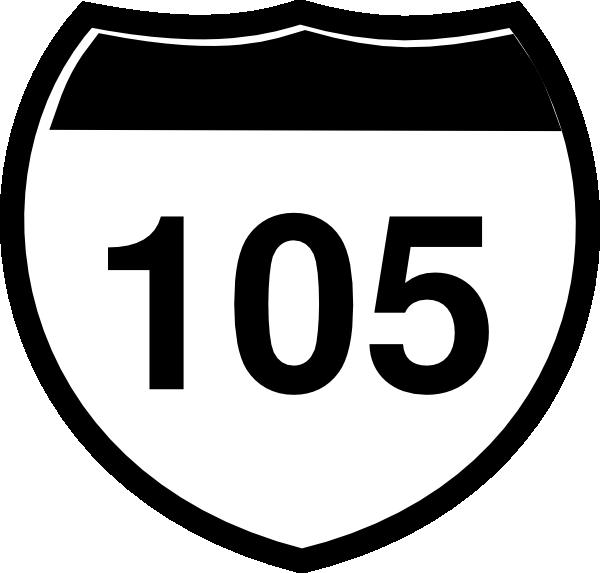 Interstate Sign I 105 Clip Art at Clker.com.