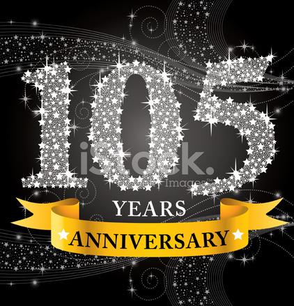 105th Anniversary Stock Vector.
