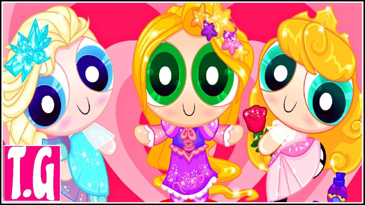 Powerpuff Disney Girls— GAMES FOR KIDS. HD 1080p.