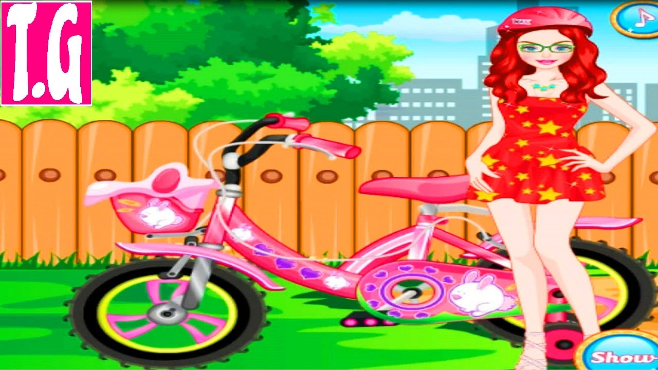 Cute Girl Bicycle Lover— GAMES FOR KIDS. HD 1080p.