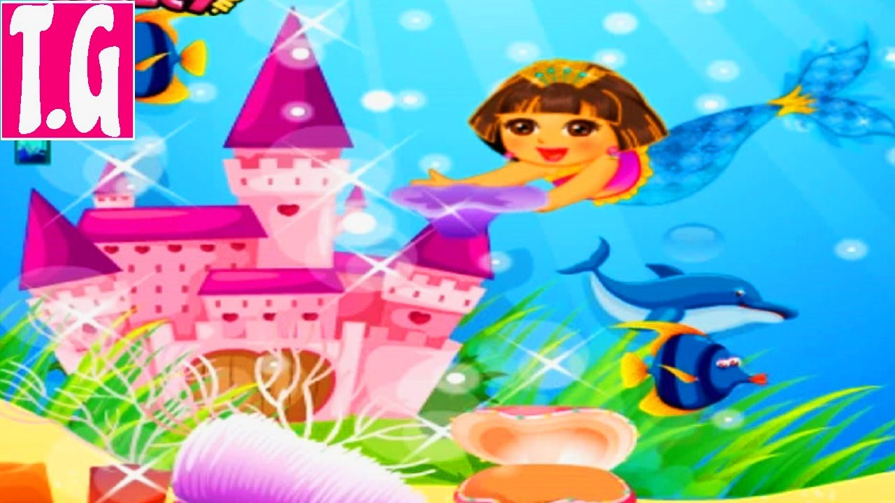 Dora Mermaid Pearl Finding— GAMES FOR KIDS. HD 1080p.