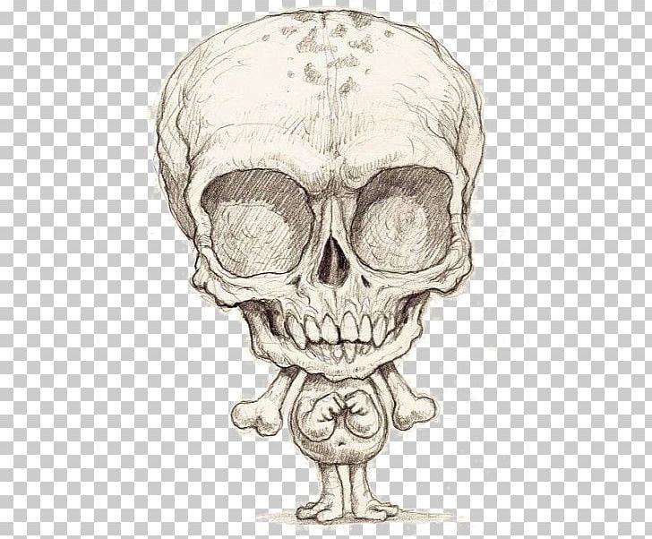 Skull Skeleton Jaw Sketch PNG, Clipart, Bone, Draw Cartoon.