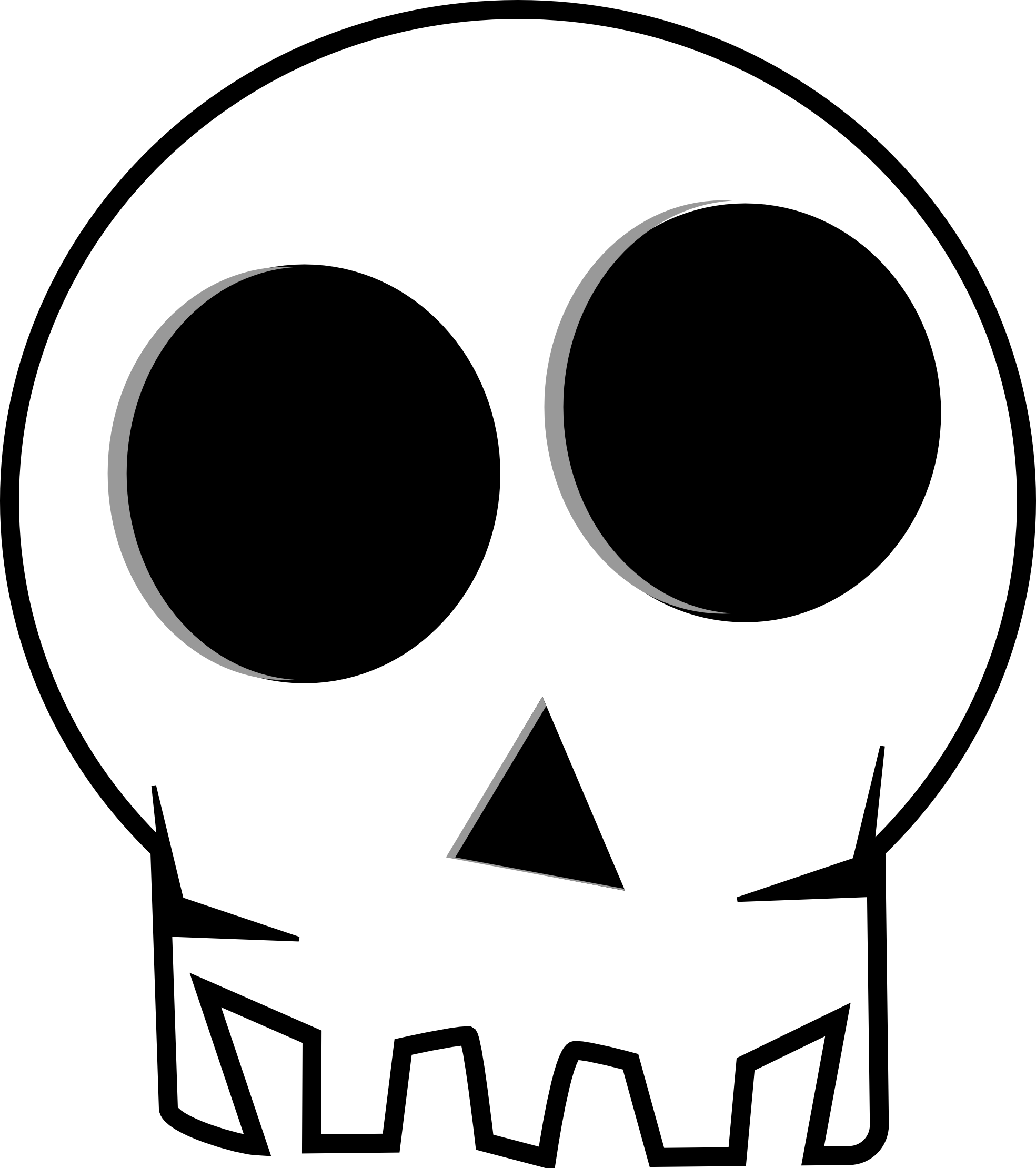 Skulls cartoon clipart images gallery for free download.