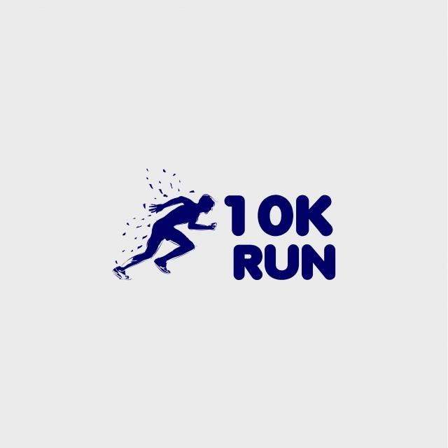 10k Run Vector Template Design Illustration, Logo, Marathon, Run PNG.