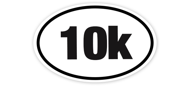 10k 6x4 White Oval Sticker.