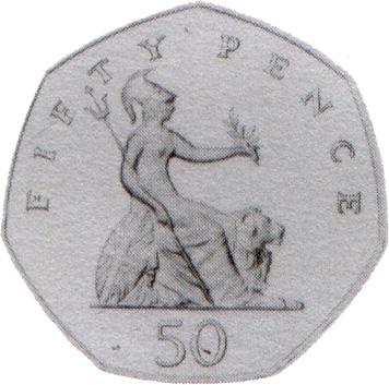 50p Coin Clipart.