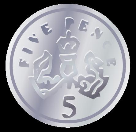 1p Coin Clipart.