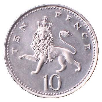 10p Coin Clipart.