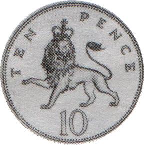 5p coin clipart.