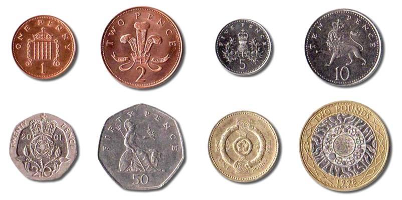 British Coins Clipart.