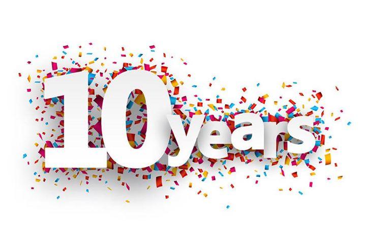 10 Year Anniversary Clipart.