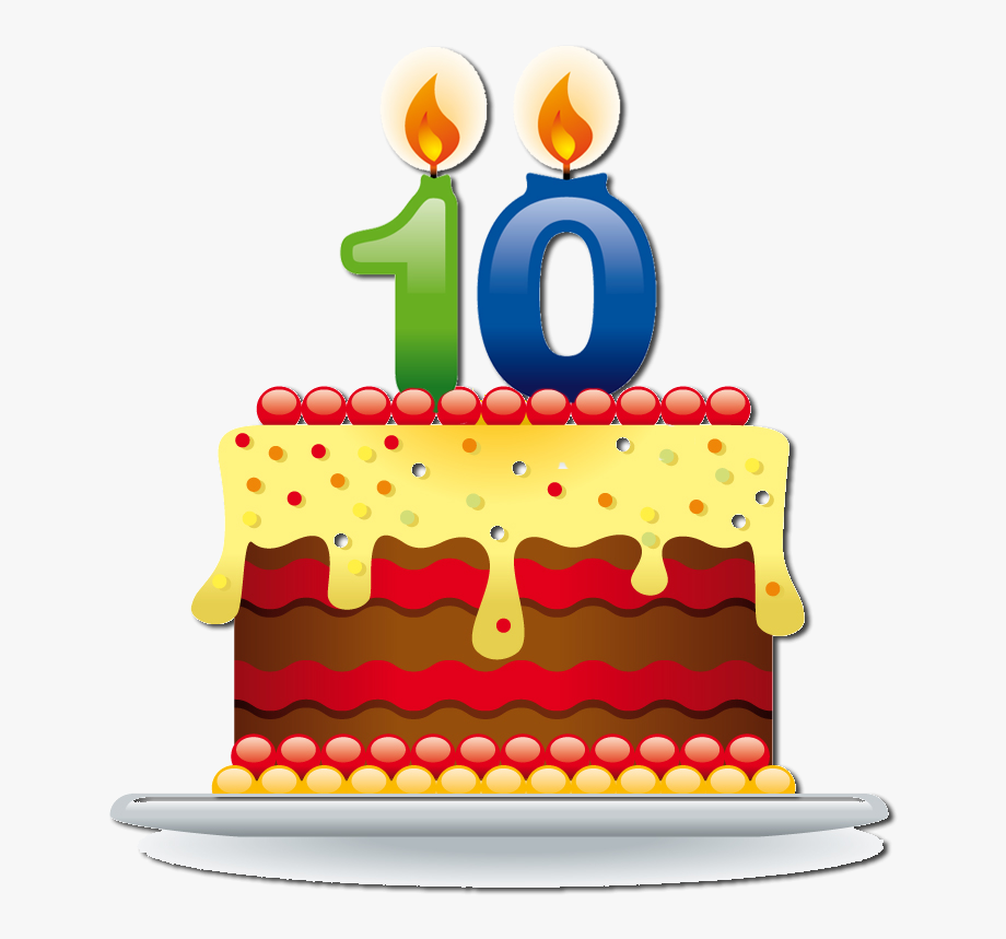 10th Birthday Party Clip Art.