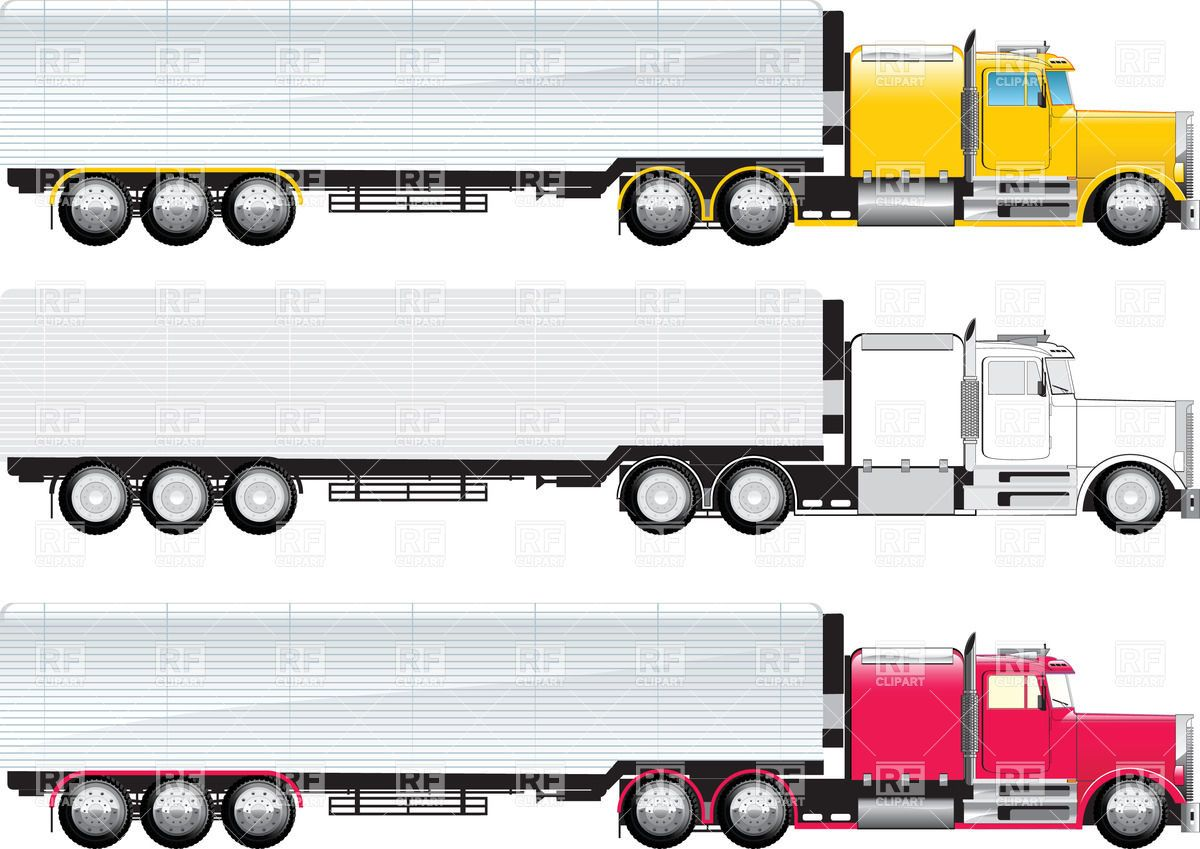 Side view of truck Stock Vector Image.