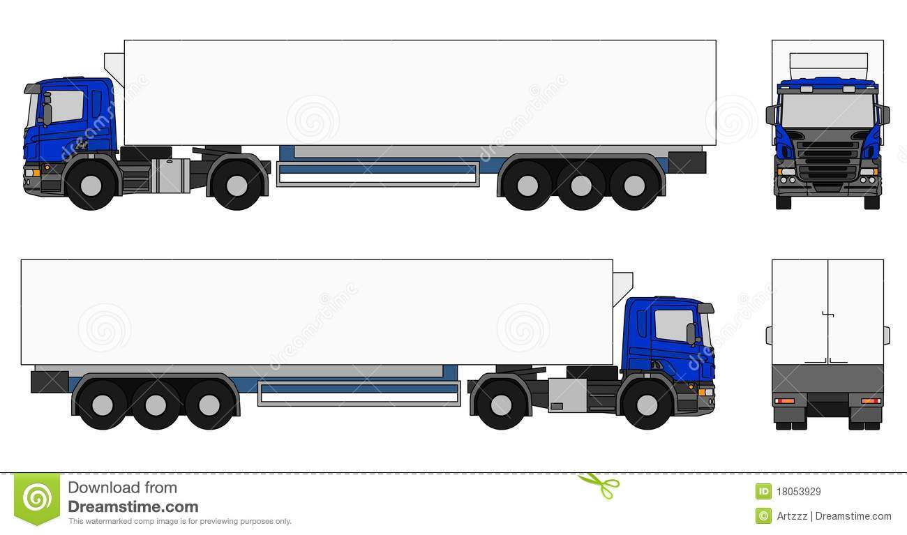 Tractor Trailer Vector at GetDrawings.com.