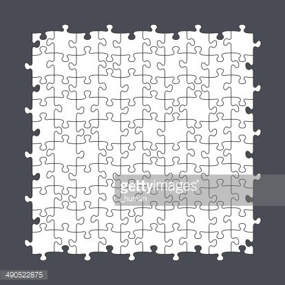 Seamless Puzzle Template 10x10 premium clipart.