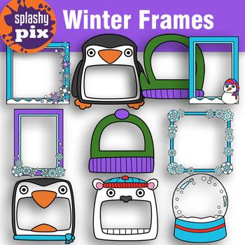 Winter Frames Clipart.