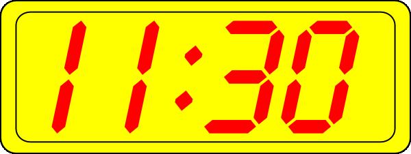 Digital Clock 11:30 Clip Art at Clker.com.