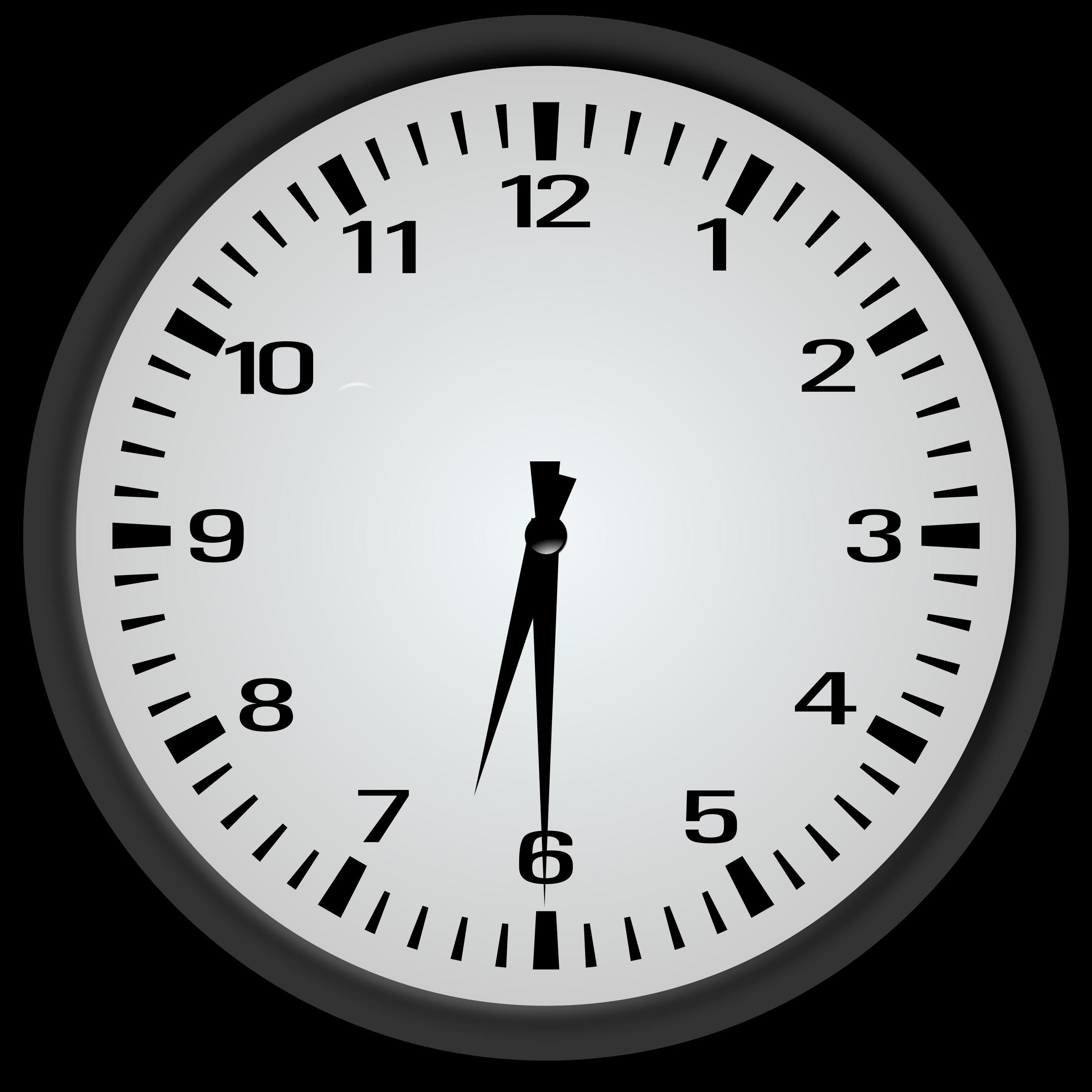 6 30 Clock Clipart.