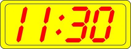 Digital Clock 11:30 clip art Clipart Graphic.