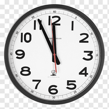 Analog clock displaying 11:55, Alarm Clocks, evening huoshao.