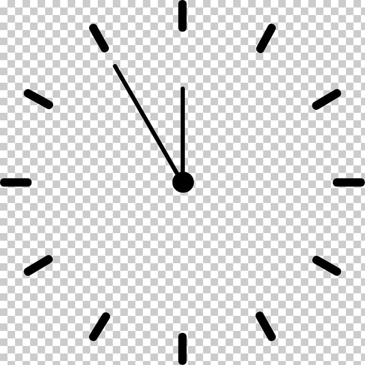 Clock face , Clocks, black analog clock at 11:55 PNG clipart.