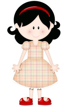 6 Year Old Girl Clipart.