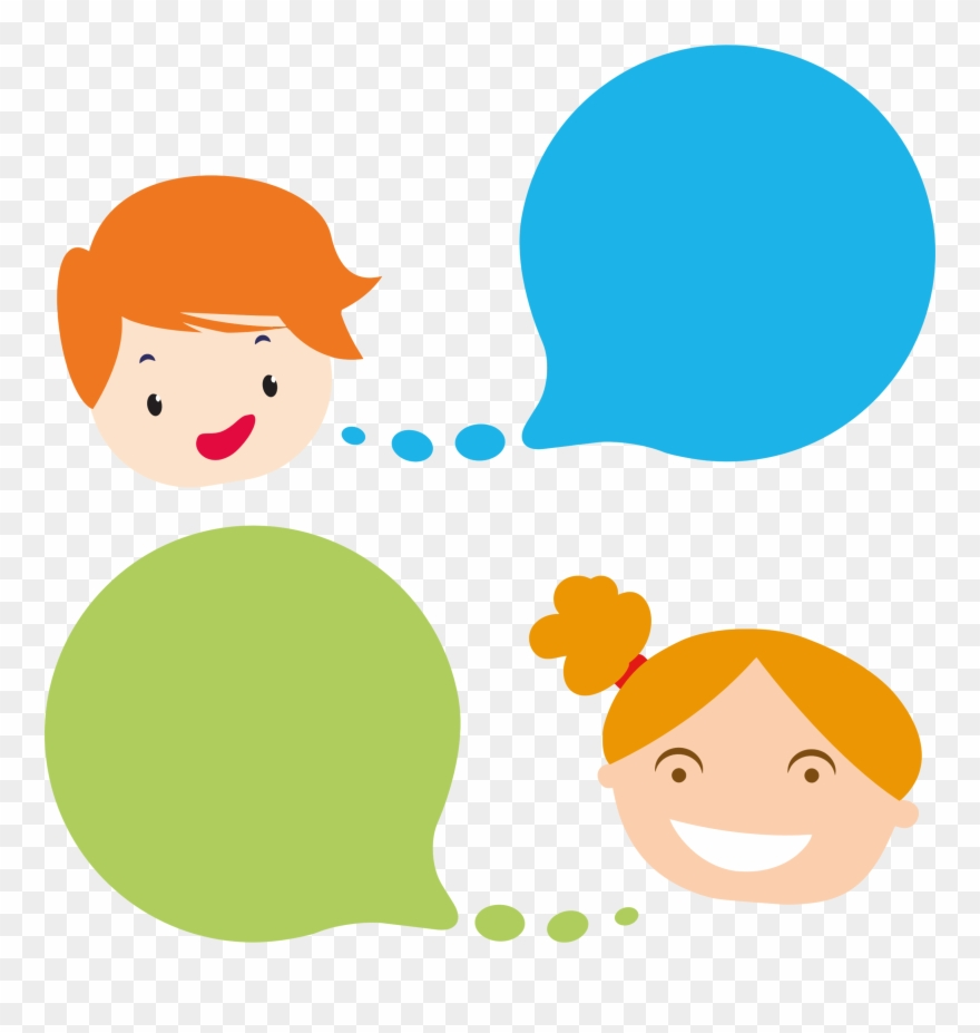 Clip Art Black And White Stock With Speech Bubbles.