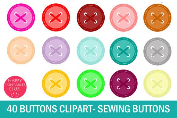 40 Button Clipart.
