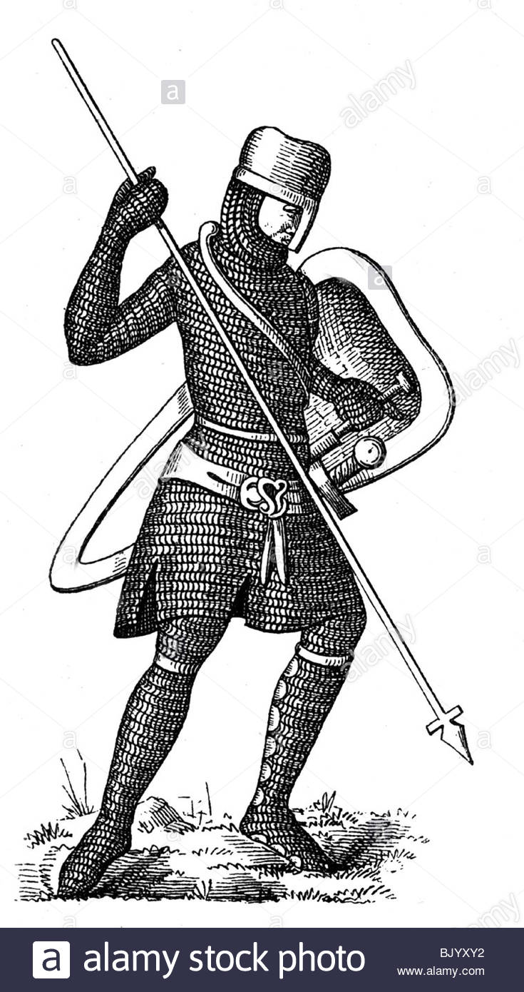 Military, Middle Ages, German Knight From The 11th Century, Wood.