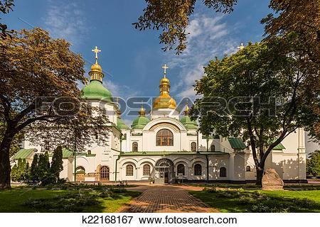 Picture of Saint Sophia Cathedral in Kiev 11th century k22168167.