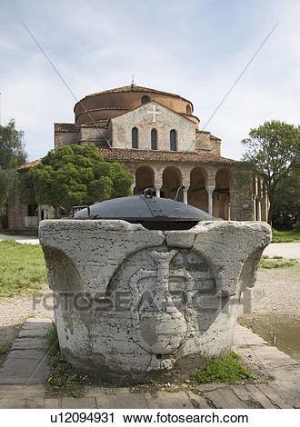 Stock Photography of 11th century Church of Santa Fosca Torcello.