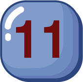 Clipart of number, icon, logo, eleven, sign, 11 u18436901.