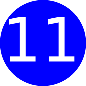 Number 11 Blue Background Clip Art at Clker.com.